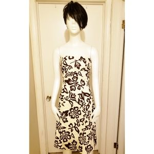 NWT Brown and tan print Fit and flare dress